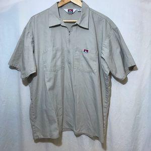 Vintage Men's Ben Davis Zipper Work Shirt X-Large